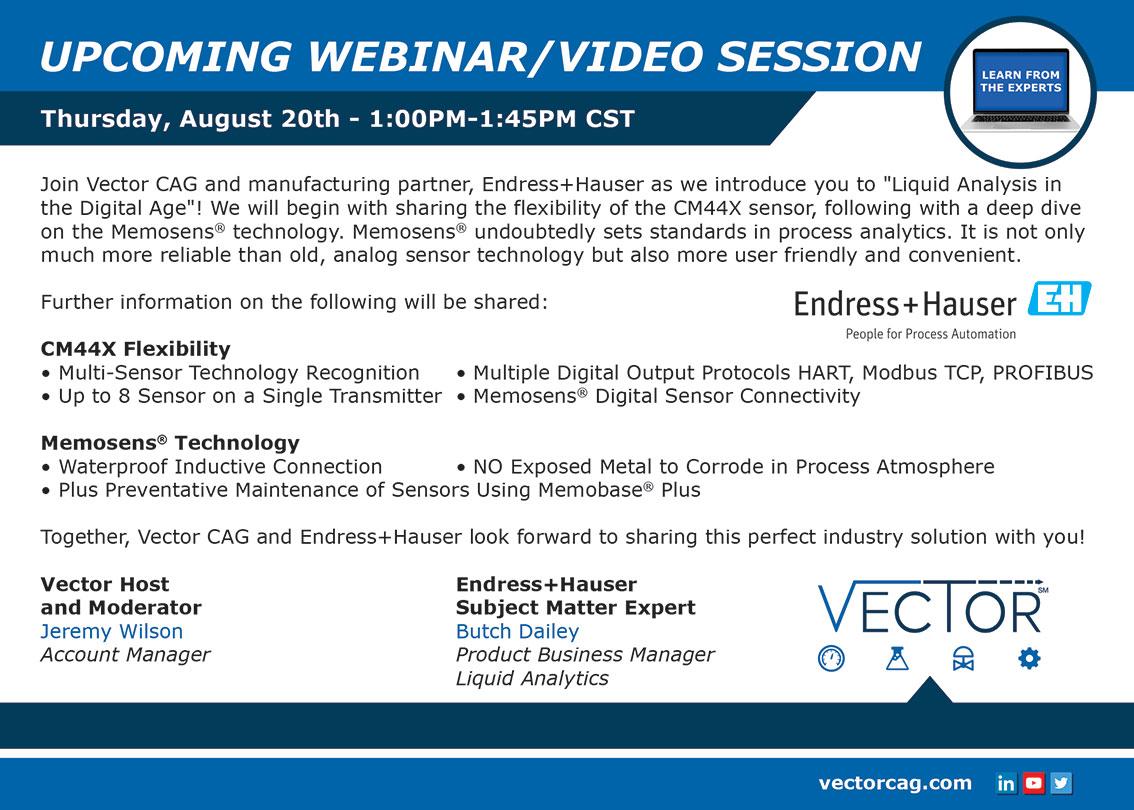 Vector Webinar: Liquid Analysis in the Digital Age