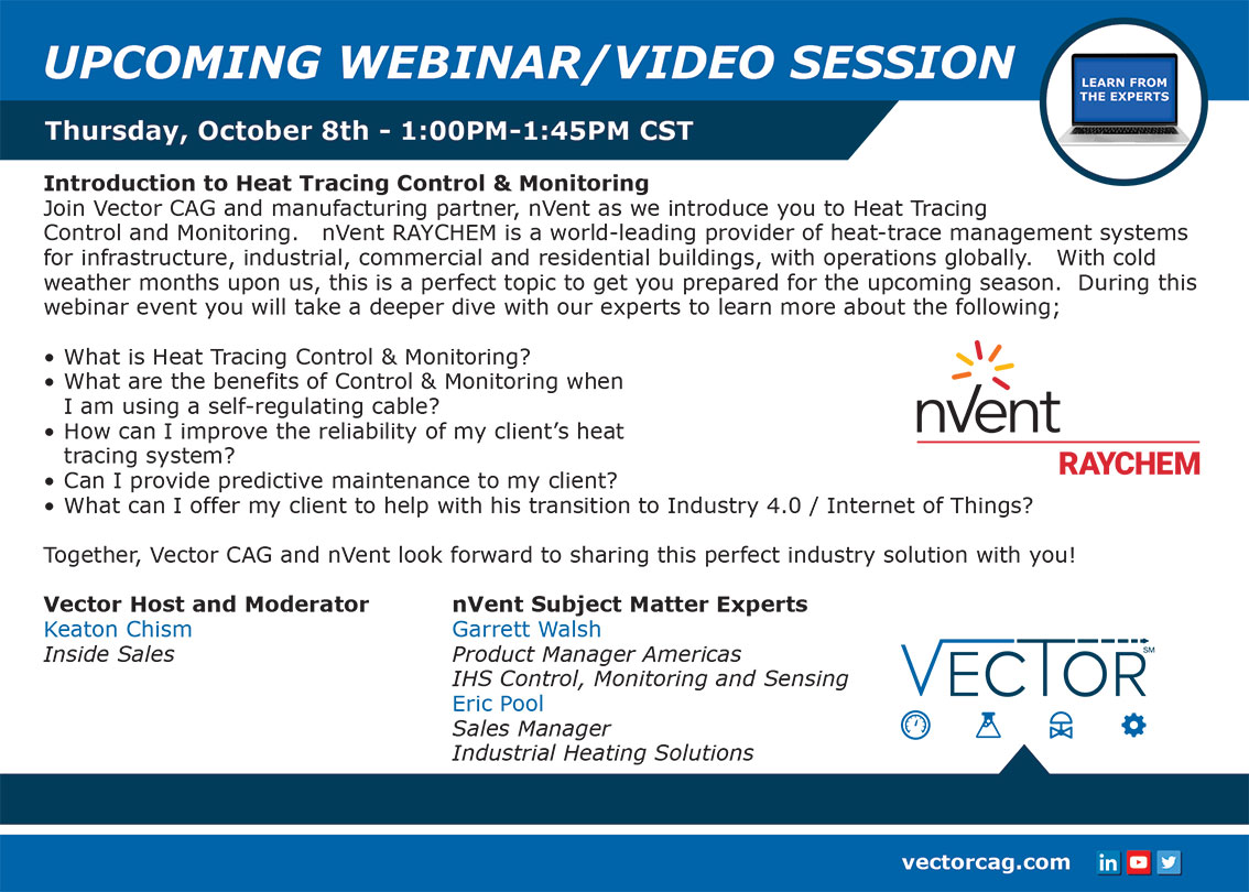 Vector CAG Webinar: Introduction to Heat Tracing Control and Monitoring