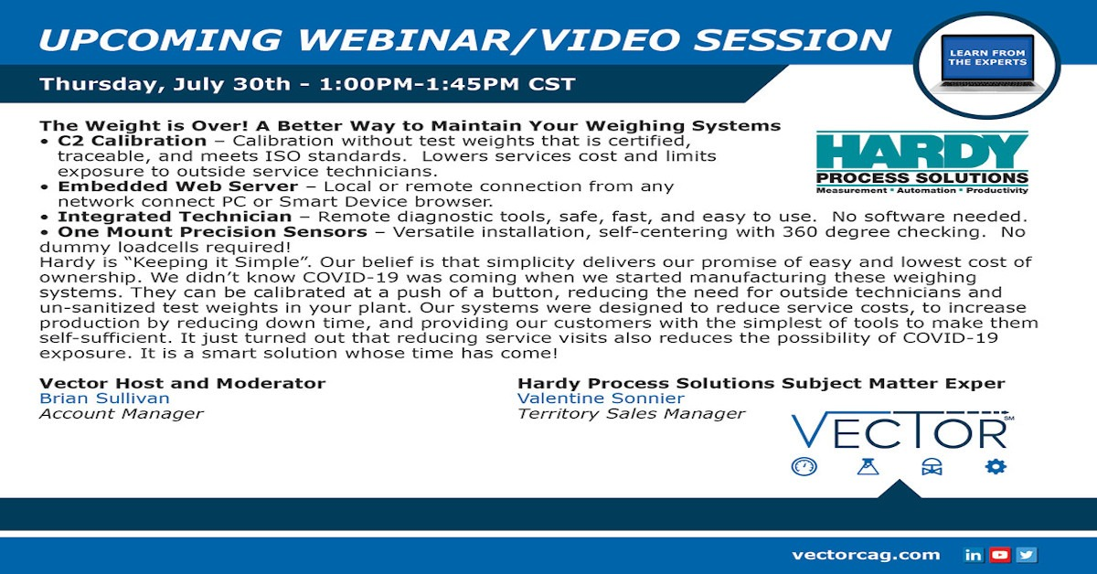 Webinar: A Better Way to Maintain Your Weighing Systems