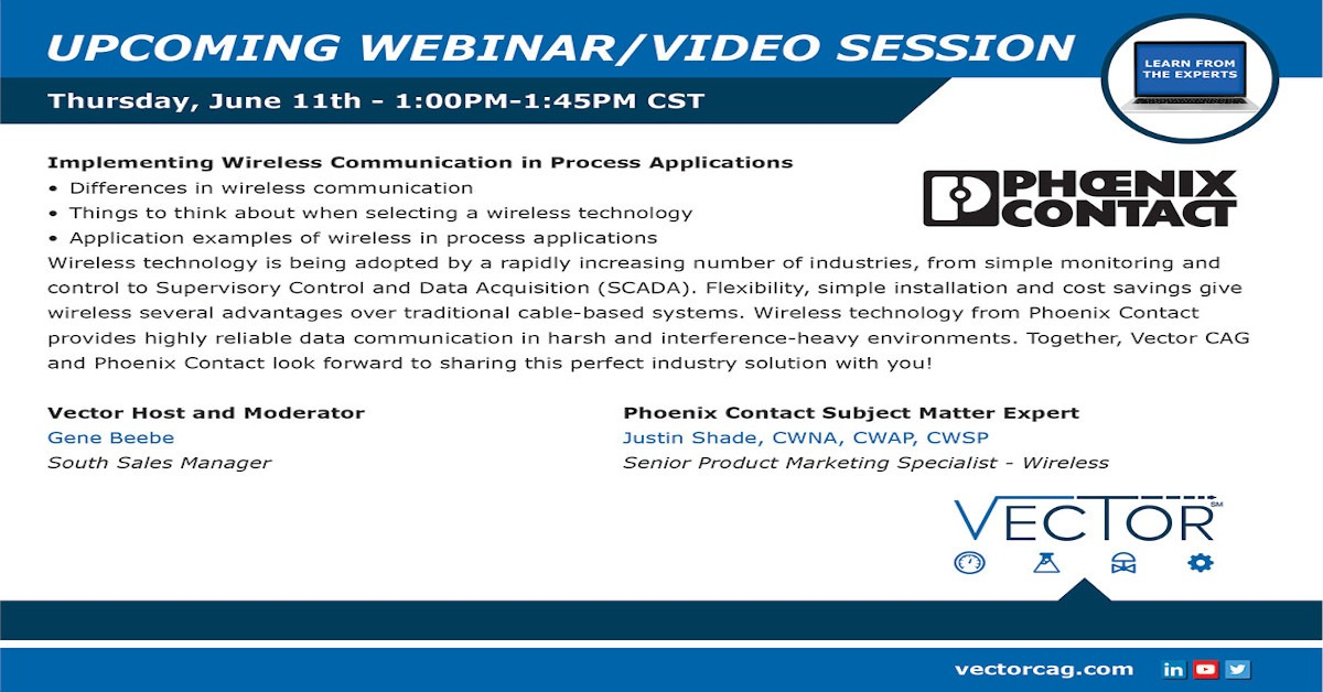 Webinar: Implementing Wireless Communication in Process Applications
