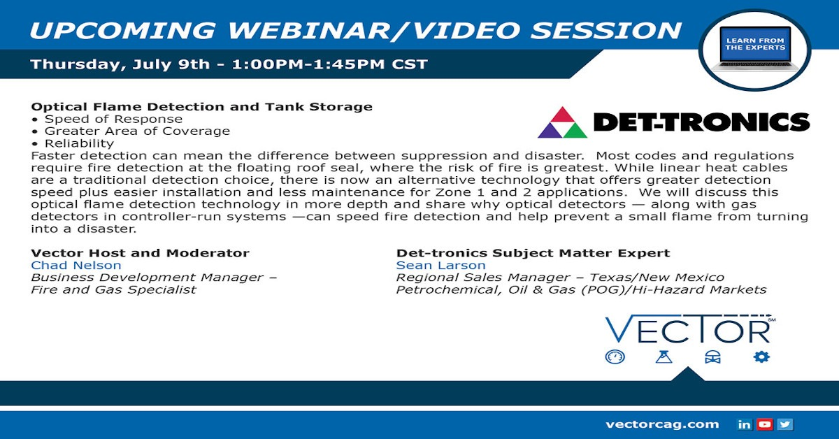 Webinar: Optical Flame Detection and Tank Storage